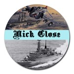 nick - Collage Round Mousepad