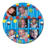 damian mousepad - Collage Round Mousepad