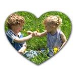 Picking Dandelions - Heart Mousepad