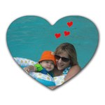 me and kyle - Heart Mousepad