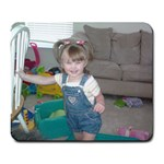 Sweet Pea Playing - Large Mousepad