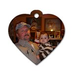 Harold Jr. & Axl - Dog Tag Heart (One Side)