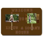 logan and lindy door mat - Large Doormat