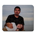 Gavin and Daddy - Large Mousepad
