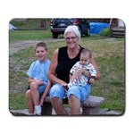 MomMom and her boys - Large Mousepad