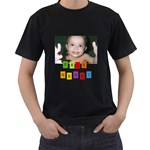 Hugs Shirt Black - Men s T-Shirt (Black) (Two Sided)