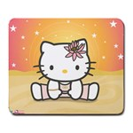 Yoga Hello Kitty mousepad - Large Mousepad