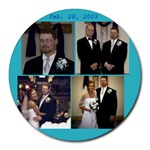 wedding - Collage Round Mousepad