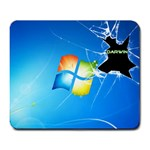 Crack the windows, go Darwine - Large Mousepad