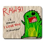 Rawr! - Large Mousepad