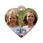 Ally&Abby - Dog Tag Heart (Two Sides)
