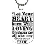 heart - Dog Tag (One Side)