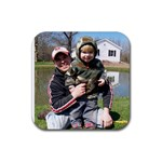 Frog Catching - Rubber Coaster (Square)