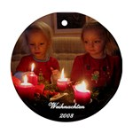 Christmas Ornament of my nieces - Ornament (Round)