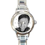Personalized Watch - Round Italian Charm Watch