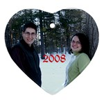 Our 2008 Christmas Ornament  - Ornament (Heart)