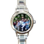 for lisa - Round Italian Charm Watch