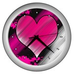 Heart Clock by iJoshsubscribed - Wall Clock (Silver)