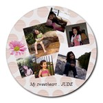 jude - Collage Round Mousepad