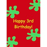 Fun & Bright Birthday Card - 1 - Greeting Card 5  x 7