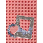 Love card template - Greeting Card 5  x 7