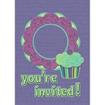 Birthday Invitation 5x7 Greeting Card - Greeting Card 5  x 7