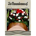 funeral template card- sympathy - Greeting Card 5  x 7