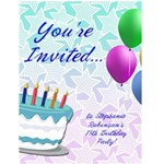 Personalized Birthday Party Invitations - Greeting Card 4.5  x 6