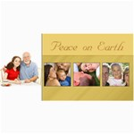 Peace on Earth Gold Photo Holiday Christmas Cards - 4  x 8  Photo Cards