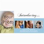 Baby Birth Announcement Photo Cards - 4  x 8  Photo Cards