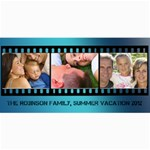 Blue Filmstrip 3 Photos Cards - 4  x 8  Photo Cards