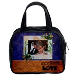 UNCONDITIONAL LOVE blue and orange - BAG - Classic Handbag (Two Sides)