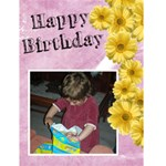 Jorge Birthday Flower Greetin Card - Greeting Card 4.5  x 6