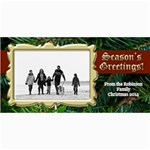 Value Priced Gold Frame Photo Christmas Cards - 4  x 8  Photo Cards
