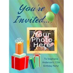 Photo Birthday Party Invitations - Greeting Card 4.5  x 6