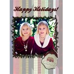 Christmas card template - Greeting Card 5  x 7