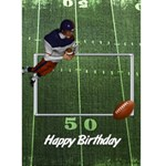Winner - Football 1 - Greeting Card 5  x 7