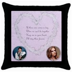 Keep me in your Heart pillow - Throw Pillow Case (Black)