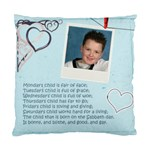 Monday s Child Cushion Cover - Standard Cushion Case (One Side)
