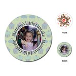 Round Cupcake Quote Playing Cards - Playing Cards Single Design (Round)