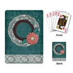 Playing Cards- flower frame - Playing Cards Single Design (Rectangle)