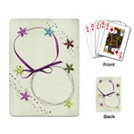 Playing Card- Flowers and glitter template - Playing Cards Single Design (Rectangle)