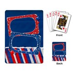 Playing Cards- Red, White and Blue template - Playing Cards Single Design