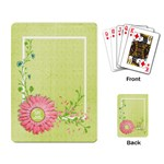 Playing Card- Flower, Work Hard, Play Harder - Playing Cards Single Design (Rectangle)