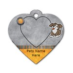 Cuddle Time Pet Tag-Dog - Dog Tag Heart (One Side)