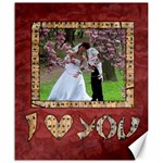 I LOVE YOU - CANVAS 20X24  - Canvas 20  x 24