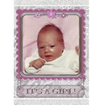 It s A Girl Card - Greeting Card 5  x 7