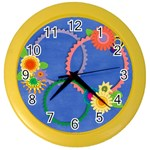 Flowers Clock - Color Wall Clock