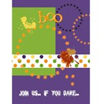 Halloween Invitation w/ photo - Greeting Card 4.5  x 6