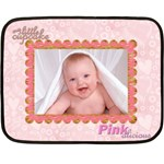100% love baby girl mini fleece - Fleece Blanket (Mini)